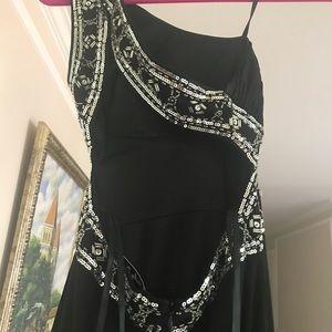 Long black fancy gown